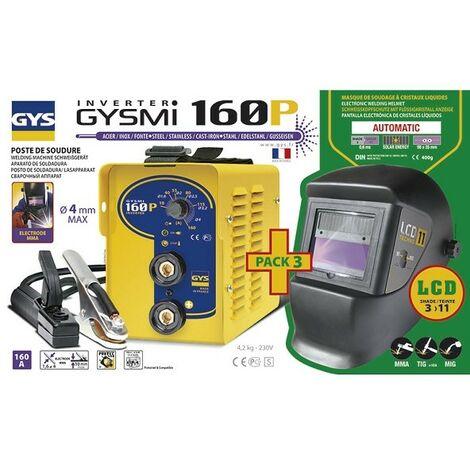 Estación de soldadura para electrodos GYS Inverter - GYSMI 160P + Máscara LCD Techno 11 - 030435