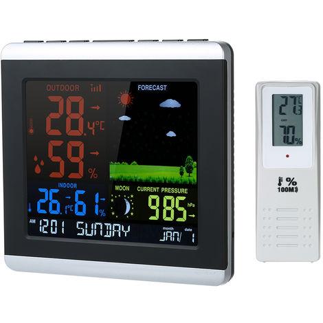 Estacion meteorologica inalambrica, reloj de pronostico, termometro higrometro, barometro
