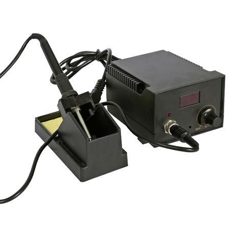 Estación soldadura desoldadura 220V / 40W max. 480°C Soldador Desoldador Regulable LCD Alarma