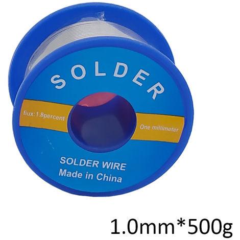 Estano plomo soldadura de alambre con colofonia de soldadura electrica, 1.0mm * 500g