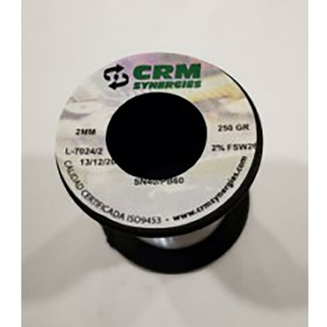 Estaño Sold Resina 250gr-2mm 40%60% Crm