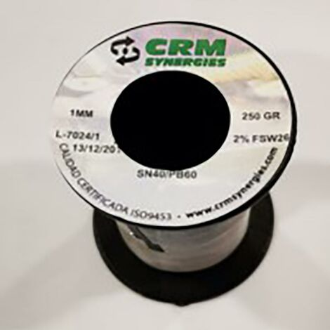 Estaño Sold Resina 40%60% 100Gr-2Mm Crm
