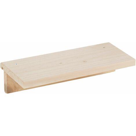 Estante accesorio de 40x17 cm de madera de pino para organizador de pared Tetris