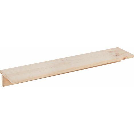 Estante accesorio de 90x17 cm madera de pino para organizador de pared Tetris