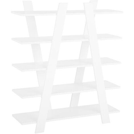Estante blanco con 5 baldas ESCALANTE
