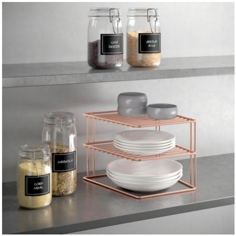 Estante coc rinconera 25x25x19cm in. palio copper metaltex