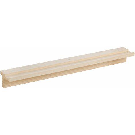Estante de 90x12 de madera de pino para cuadros o botellas para organizador de pared Tetris