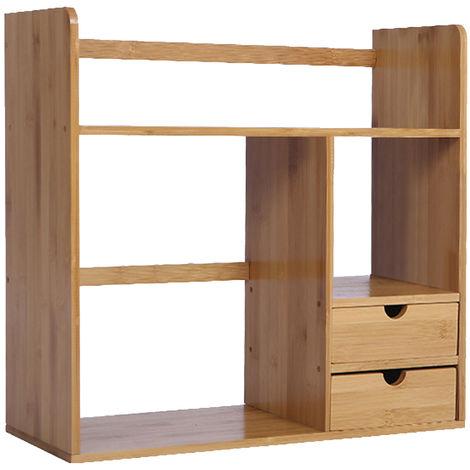 Estante de almacenamiento para organizador de escritorio con estante giratorio de 180 grados