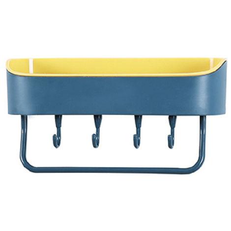 Estante de bano, Canasta de almacenamiento de ducha con carrito de ducha colgante,Azul amarillo
