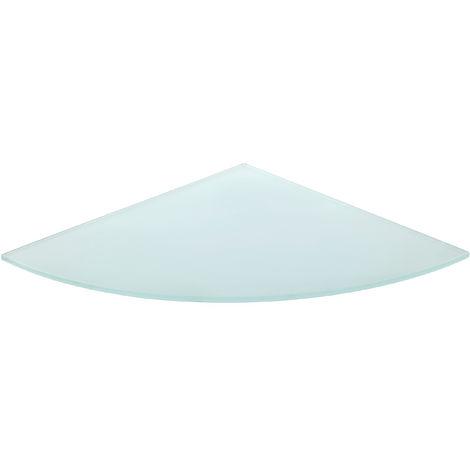 Estante de cristal templado esquinero, con estilo decorativo con acabado cristal transparente y 350 mm de profundidad.