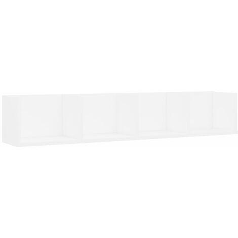 Estante de pared para CD aglomerado blanco 100x18x18 cm