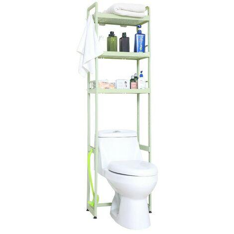 Estante de plástico de 3 niveles Baño Cocina Armario de almacenamiento Soporte Organizador de ducha Verde