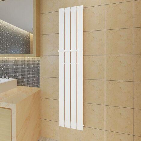 Estante de toalla 311mm panel de calefacción blanco 311x1500mm