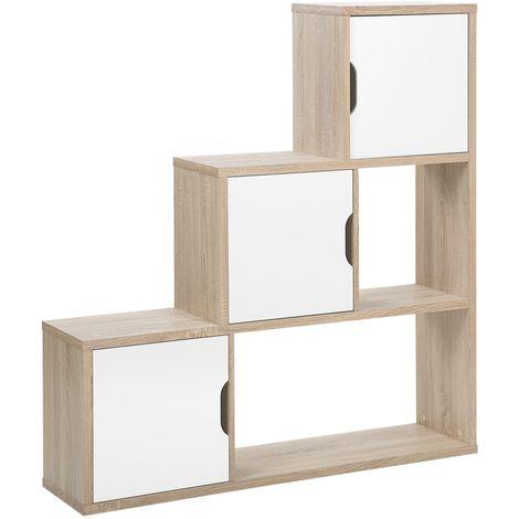 Estante en madera clara/blanco SALTA