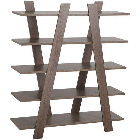 Estante en madera oscura con 5 baldas ESCALANTE