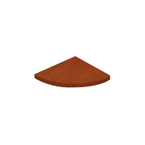 Estante esquinero de madera, con estilo clásico, acabado en cerezo y 250 mm de profundidad.