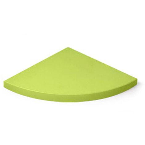 Estante esquinero de plástico, de estilo juvenil, acabado en verde y 250 mm de profundidad.