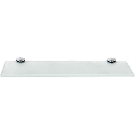 Estante flotante de cristal Estante de baño estante de pared 30x10CM Blanco Soporte para baño estantería pared vidrio estantería cristal