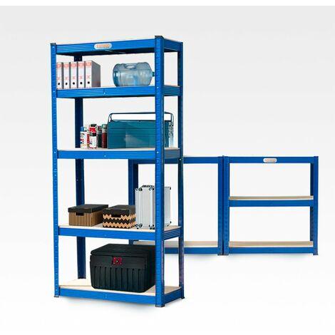 Estante metálico con 5 estantes 180x90x40cm 950 Kg ELEMENT XL