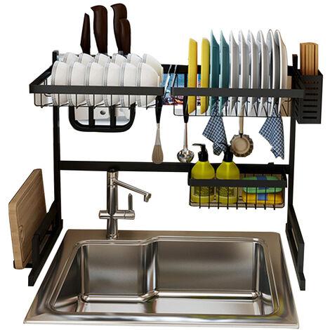 Estante para platos de acero inoxidable, para utensilios de cocina,65cm