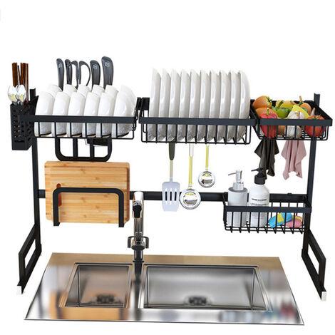 Estante para platos de acero inoxidable, para utensilios de cocina,85cm