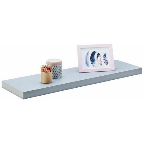 Estante pared gris plata 80x25 cm fijación invisible, Estantería colgante, Estante pared cocina, Estantería pared, Estantes dormitorio, Estantería libreria