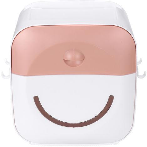 Estante porta-tejidos Pared Tubo de papel Caja de almacenamiento Rosa