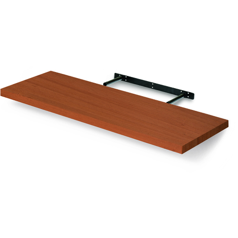 Estante rectangular de madera, de estilo clásico, acabado en cerezo y 250 mm de profundidad.