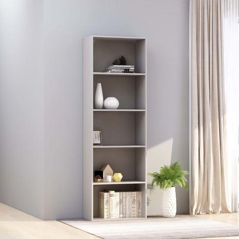 Estanteria 5 niveles aglomerado gris 60x30x189 cm