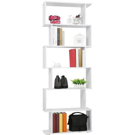 Estantería Alta Librería 6 Estantes ||-- Comedor Salón Diseño Moderno || Montaje de Pared