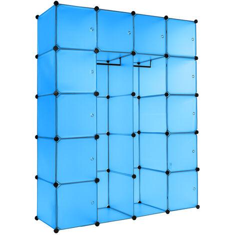 Estantería Anita - estantería modular multifuncional, mueble con paneles frontales de cierre extraíbles, cajonera resistente con cierre magnético