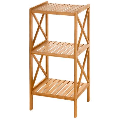 Estantería auxiliar de bambú 3 estantes
