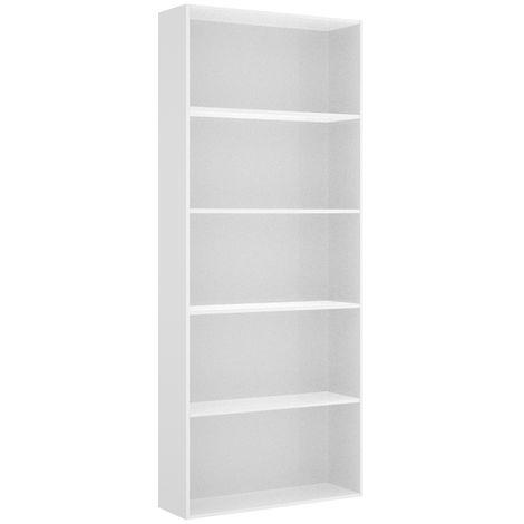 Estantería Baño alta 6 estantes (5 espacios) color blanco brillo. Medidas: alto 204cm. ancho 82cm. fondo 28cm.