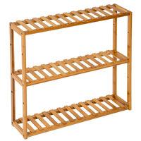 Estantería baño bambú 60x15x54,5cm