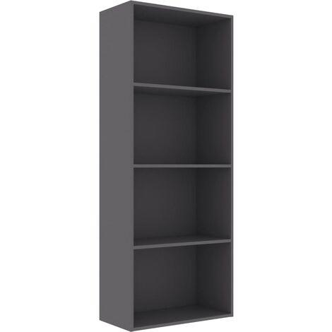 Estantería de 4 niveles de aglomerado gris 60x30x151,5 cm