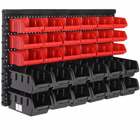 Estanter/ía herramientas Organizador taller Sistema almacenaje 30 cajas Soporte Garaje Bricolaje