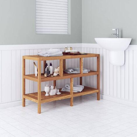 Estantería de cuarto de baño 100x40x65cm madera maciza de ...