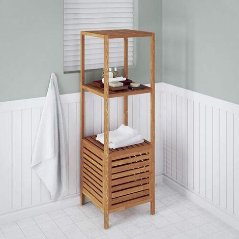 Estantería de cuarto de baño 39,5x35,5x123 cm madera de nogal -