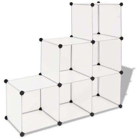 Estanteria de cubos con 6 compartimentos blanco
