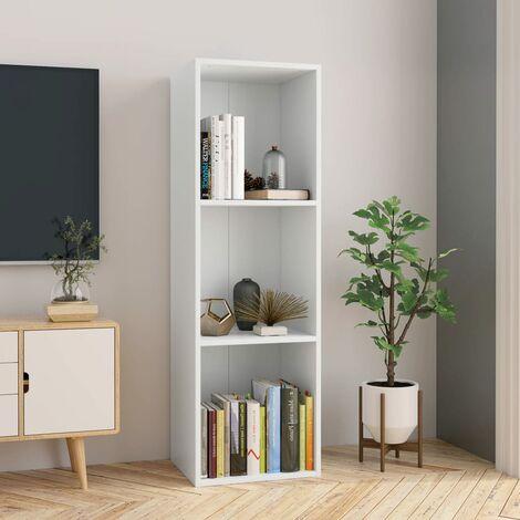 Estanteria de libros/mueble TV aglomerado blanco 36x30x114 cm