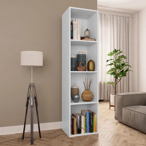 Estanteria de libros/mueble TV aglomerado blanco 36x30x143 cm