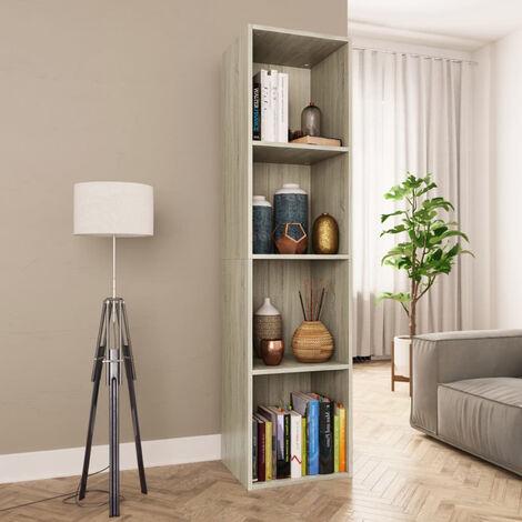 Estanteria de libros/mueble TV aglomerado Sonoma 36x30x143 cm