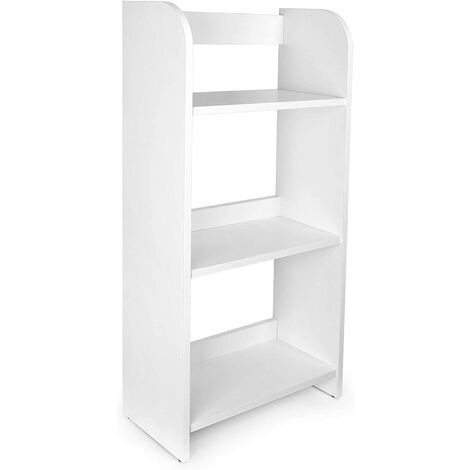 Estantería de madera para niños con tres estantes - color blanco