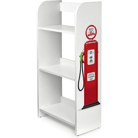 Estantería de madera para niños con tres estantes - Gasolinera