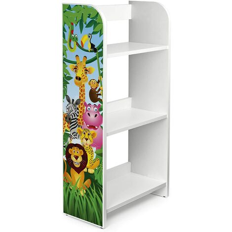 Estantería de madera para niños con tres estantes - ZOO
