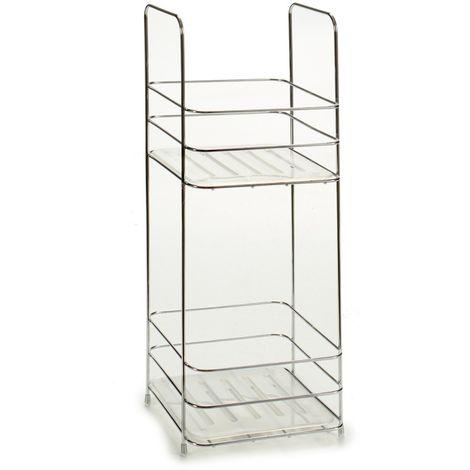 Estantería de Metal Cuadrada con 2 Estantes. Ideal para tener tus accesorios de forma organizada y ahorrar espacio