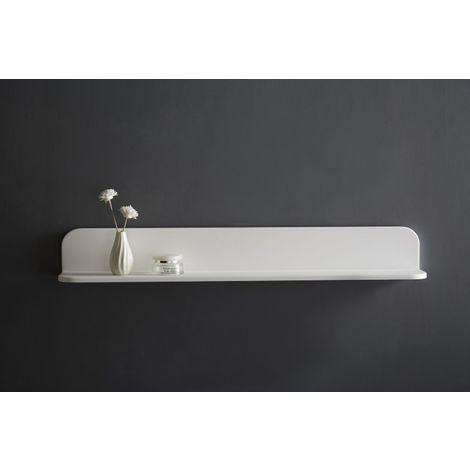 Estantería de pared de baño de polímero mineral PB4202 - 90 x 12 x 12 cm