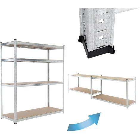 Estantería de taller 4 baldas estante MDF almacenamiento garaje 180x160x60 cm