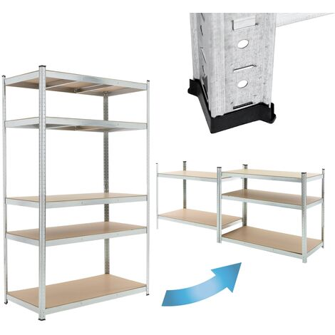 Estantería de taller 5 baldas estante metal almacenamiento garaje 200x120x60 cm