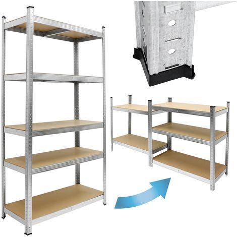 Estantería de taller 5 pisos estante de almacenaje trabajo pesado 200x100x50 cm